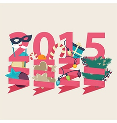 2015 new year card design vector