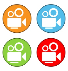 Camera button set vector image