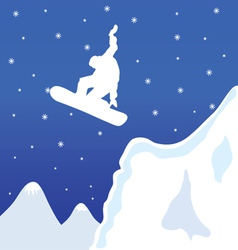Skiing and snowboard in winter vector
