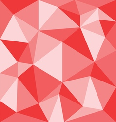 Abstract red with polygonal pattern on the wall vector