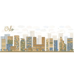 Abstract oslo skyline vector