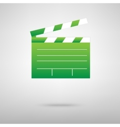 Film clap board cinema vector