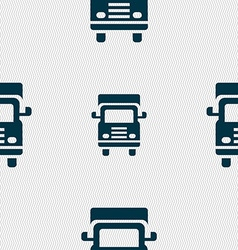 Transport truck icon sign seamless pattern with vector