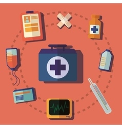Medical help icon vector
