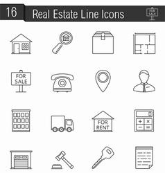 Reak Estate Icons vector image
