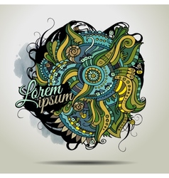 Abstract decorative doodles background vector