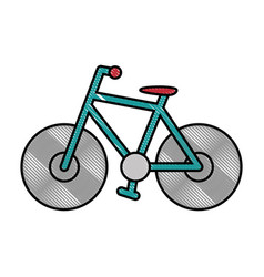 Bike sport vehicle vector