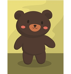 Black Bear Cartoon vector image vector image