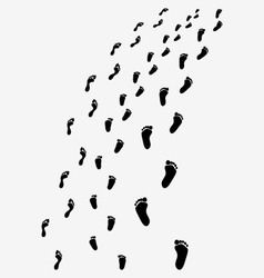Black footprints vector
