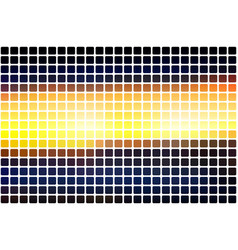 Blue yellow orange black abstract rounded mosaic vector