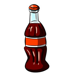 cartoon image of bottle icon coke drink symbol vector image vector image
