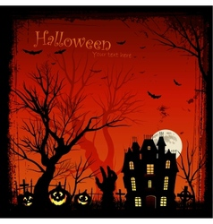 creepy halloween background vector image vector image