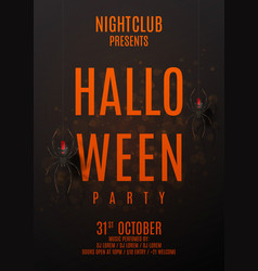 dark halloween party poster vector image