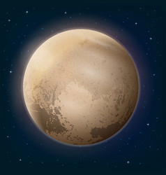 dwarf planet pluto in space vector image vector image