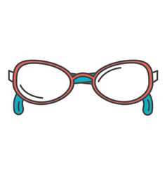 Elegant eye glasses icon vector