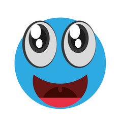 Emoticon happy april fools day vector