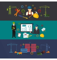 Engineer construction industrial factory vector image