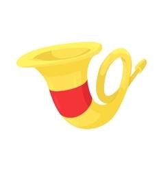French horn icon cartoon style vector