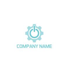 gear on logo vector image