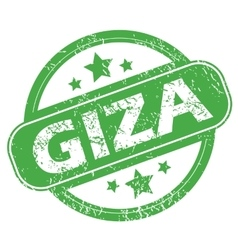 Giza green stamp vector