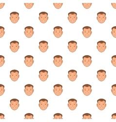 Male face pattern cartoon style vector