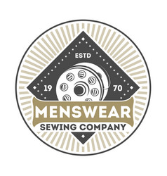 Menswear company vintage isolated label vector