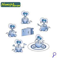 modern nano robot mouse iron cute friendly the vector image
