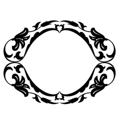 Oval baroque ornamental decorative frame vector