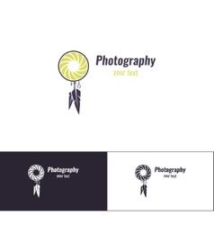 Photography logo four vector