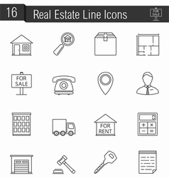 Reak estate icons vector