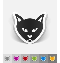 Realistic design element cat vector