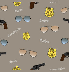seamless pattern on a police subject vector image