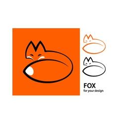 stylized fox vector image vector image