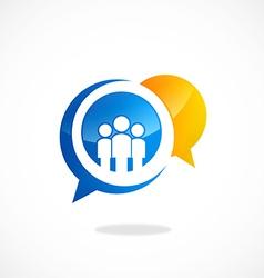 Talk people gossip bubble logo vector