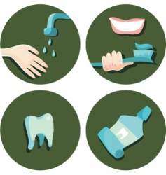 teeth icons vector image