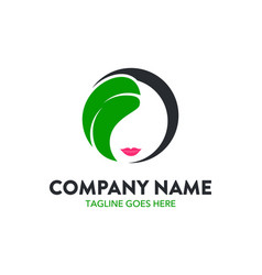 Unique beauty logo template vector
