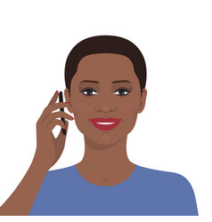 Woman talking on the mobile phone vector