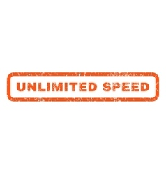 Unlimited speed rubber stamp vector