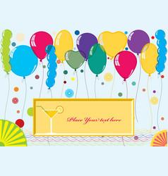 Card for congratulations vector image