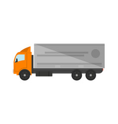 Modern freight truck isolated icon vector