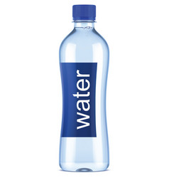 plastic bottle of clean water vector image
