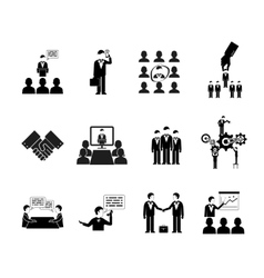 business peoples silhouettes vector image