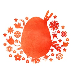 Red egg mix vector
