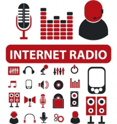 Internet radio signs vector