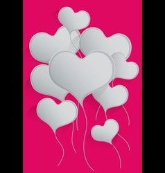 Heart balloons background vector