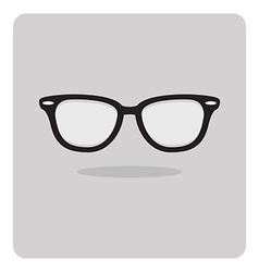 flat icon black glasses vector image