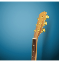 Guitar head on blue vector