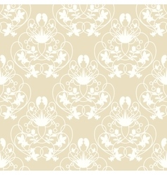 Elegant damask beige seamless background vector