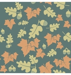 Seamless pattern with colorful autumn leaves and vector
