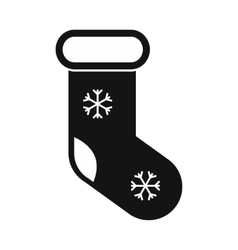 Christmas sock simple icon vector